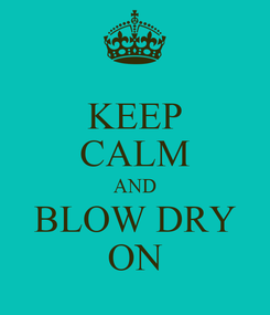 Poster: KEEP CALM AND BLOW DRY ON