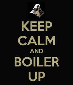 Poster: KEEP CALM AND BOILER UP