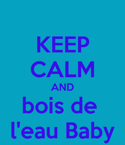 Poster: KEEP CALM AND bois de  l'eau Baby