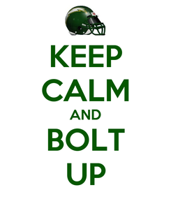 Poster: KEEP CALM AND BOLT UP