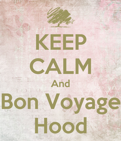Poster: KEEP CALM And Bon Voyage Hood