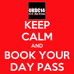 Poster: KEEP CALM AND BOOK YOUR DAY PASS