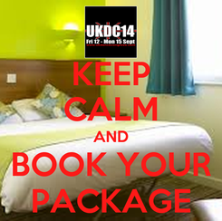 Poster: KEEP CALM AND BOOK YOUR PACKAGE