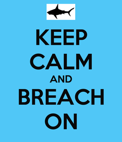Poster: KEEP CALM AND BREACH ON