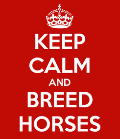 Poster: KEEP CALM AND BREED HORSES