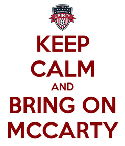 Poster: KEEP CALM AND BRING ON MCCARTY