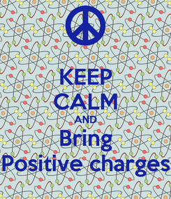 Poster: KEEP CALM AND Bring Positive charges