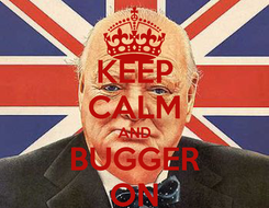 Poster: KEEP CALM AND BUGGER ON