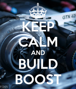 Poster: KEEP CALM AND BUILD BOOST