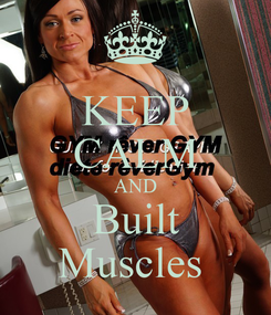 Poster: KEEP CALM AND Built Muscles