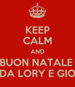 Poster: KEEP CALM AND BUON NATALE  DA LORY E GIO