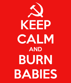 Poster: KEEP CALM AND BURN BABIES