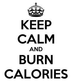 Poster: KEEP CALM AND BURN CALORIES