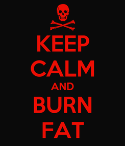 Poster: KEEP CALM AND BURN FAT