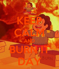 Poster: KEEP CALM AND BURN IT DAY