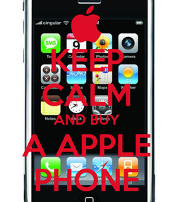 Poster: KEEP CALM AND BUY A APPLE PHONE