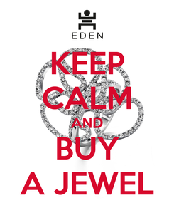 Poster: KEEP CALM AND BUY A JEWEL