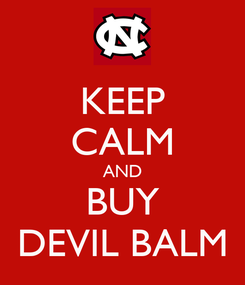 Poster: KEEP CALM AND BUY DEVIL BALM