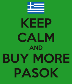 Poster: KEEP CALM AND BUY MORE PASOK