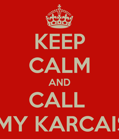 Poster: KEEP CALM AND CALL  AMY KARCAISE