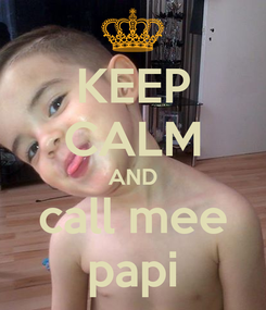 Poster: KEEP CALM AND call mee papi