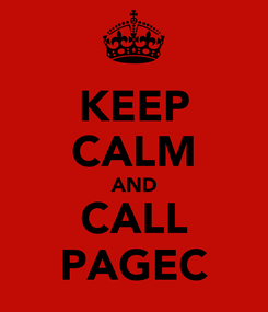 Poster: KEEP CALM AND CALL PAGEC