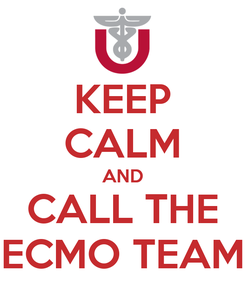 Poster: KEEP CALM AND CALL THE ECMO TEAM