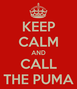 Poster: KEEP CALM AND CALL THE PUMA