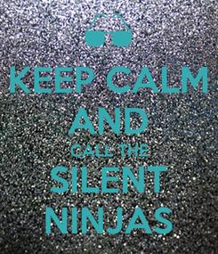 Poster: KEEP CALM AND CALL THE SILENT NINJAS
