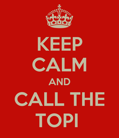 Poster: KEEP CALM AND CALL THE TOPI