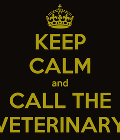 Poster: KEEP CALM and CALL THE VETERINARY