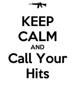 Poster: KEEP CALM AND Call Your Hits