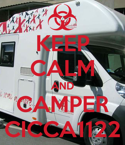Poster: KEEP CALM AND CAMPER CICCA1122