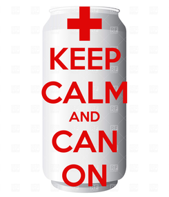 Poster: KEEP CALM AND CAN ON
