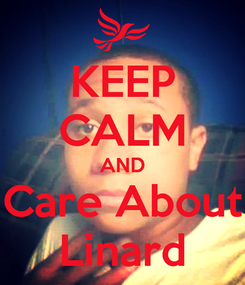 Poster: KEEP CALM AND Care About Linard