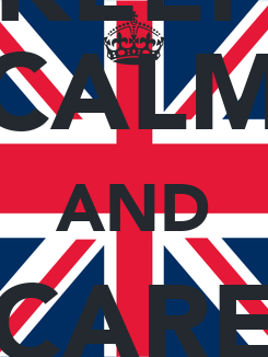 Poster: KEEP CALM AND CARE YOU