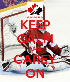 Poster: KEEP CALM AND CAREY ON