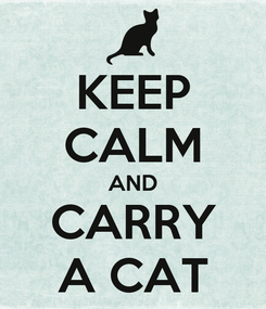 Poster: KEEP CALM AND CARRY A CAT