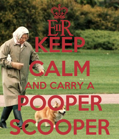 Poster: KEEP CALM AND CARRY A POOPER SCOOPER