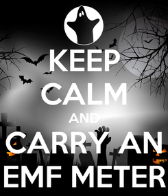 Poster: KEEP CALM AND CARRY AN EMF METER