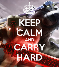 Poster: KEEP CALM AND CARRY HARD