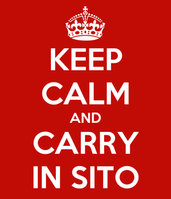 Poster: KEEP CALM AND CARRY IN SITO