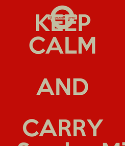 Poster: KEEP CALM AND CARRY It's Sunday Mix!