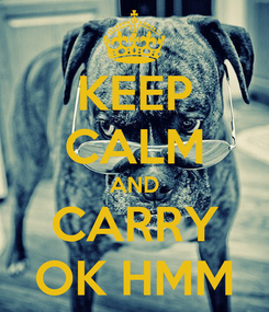 Poster: KEEP CALM AND CARRY OK HMM