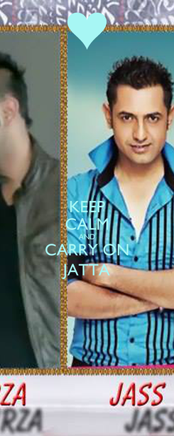 Poster: KEEP CALM AND CARRY ON JATTA