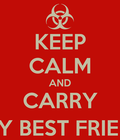 Poster: KEEP CALM AND CARRY ON MY BEST FRIENDS :)
