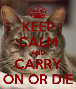 Poster: KEEP CALM AND CARRY ON OR DIE