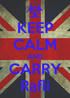 Poster: KEEP CALM AND CARRY Rafli