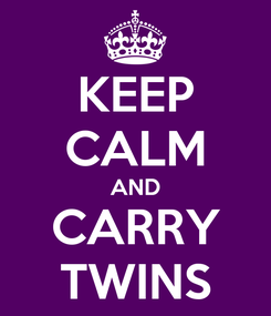 Poster: KEEP CALM AND CARRY TWINS