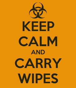 Poster: KEEP CALM AND CARRY WIPES